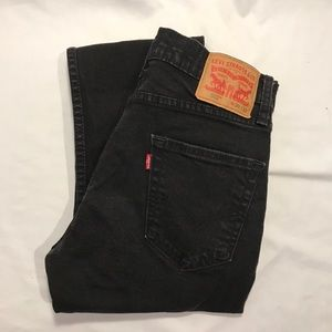 Levis 502 Taper Fit Stretch Jeans Black